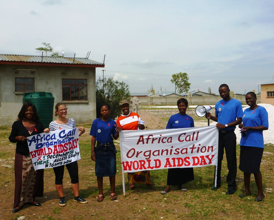 Batrice e le collaboratrici al World AIDS Day in Zambia