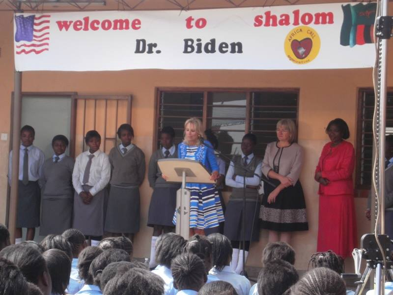 Jill Biden at Shalom Community School Zambia