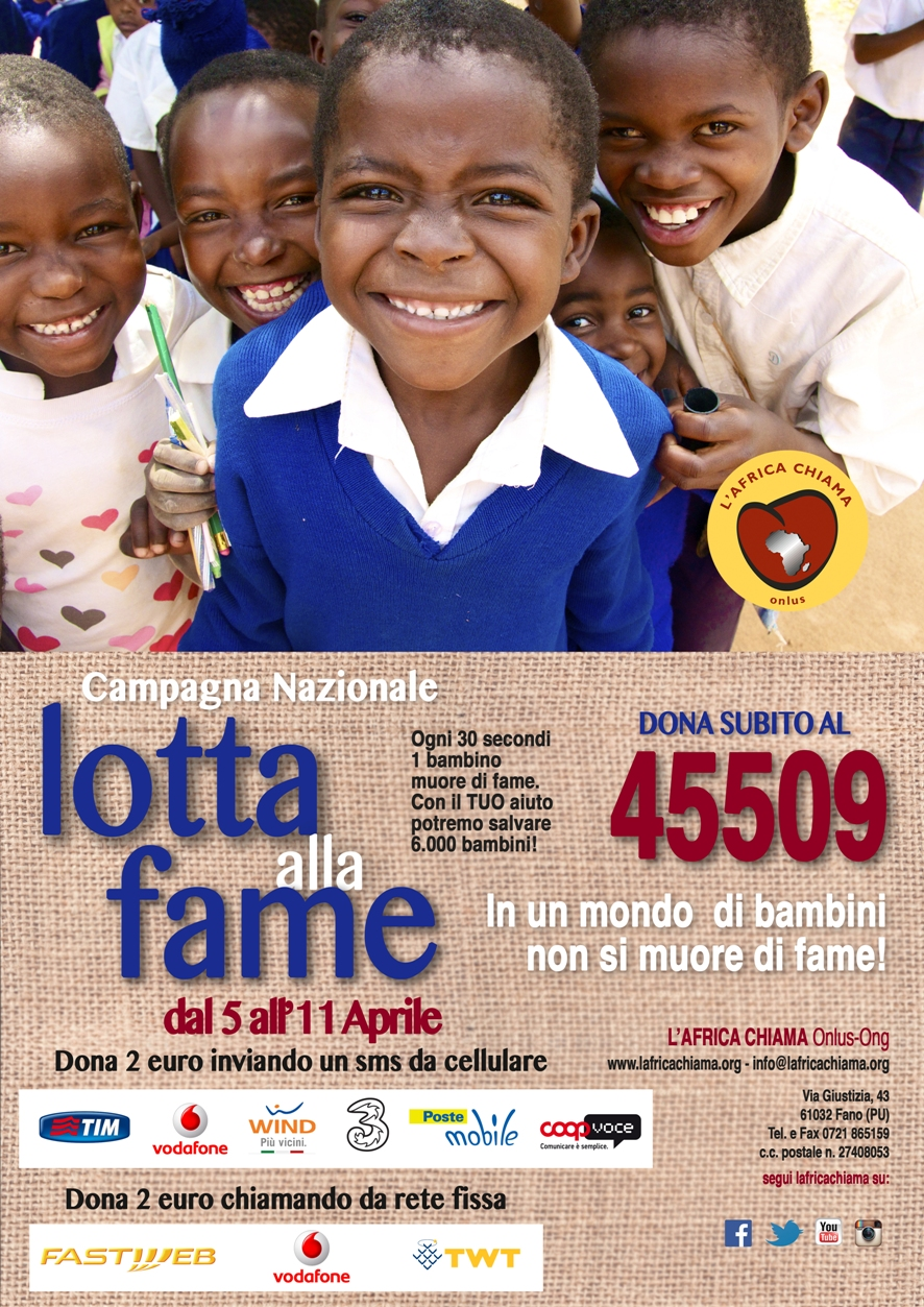 locandina sms solidale 45509 L'AFRICA CHIAMA